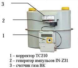 СГ-ТК-Д-40 (узел учета газа измерительный комплекс) термодатчик на корпусе